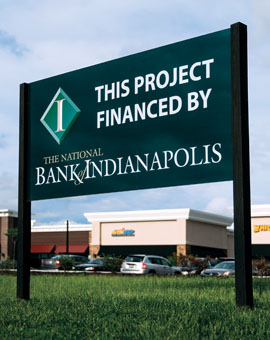 a commercial real estate project financed by the national bank of indianapolis